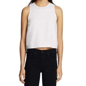 Rag & Bone Evie Textured Sleeveless Zipper Blouse